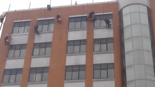 外墙清洗-郑州教育局教育管理中心